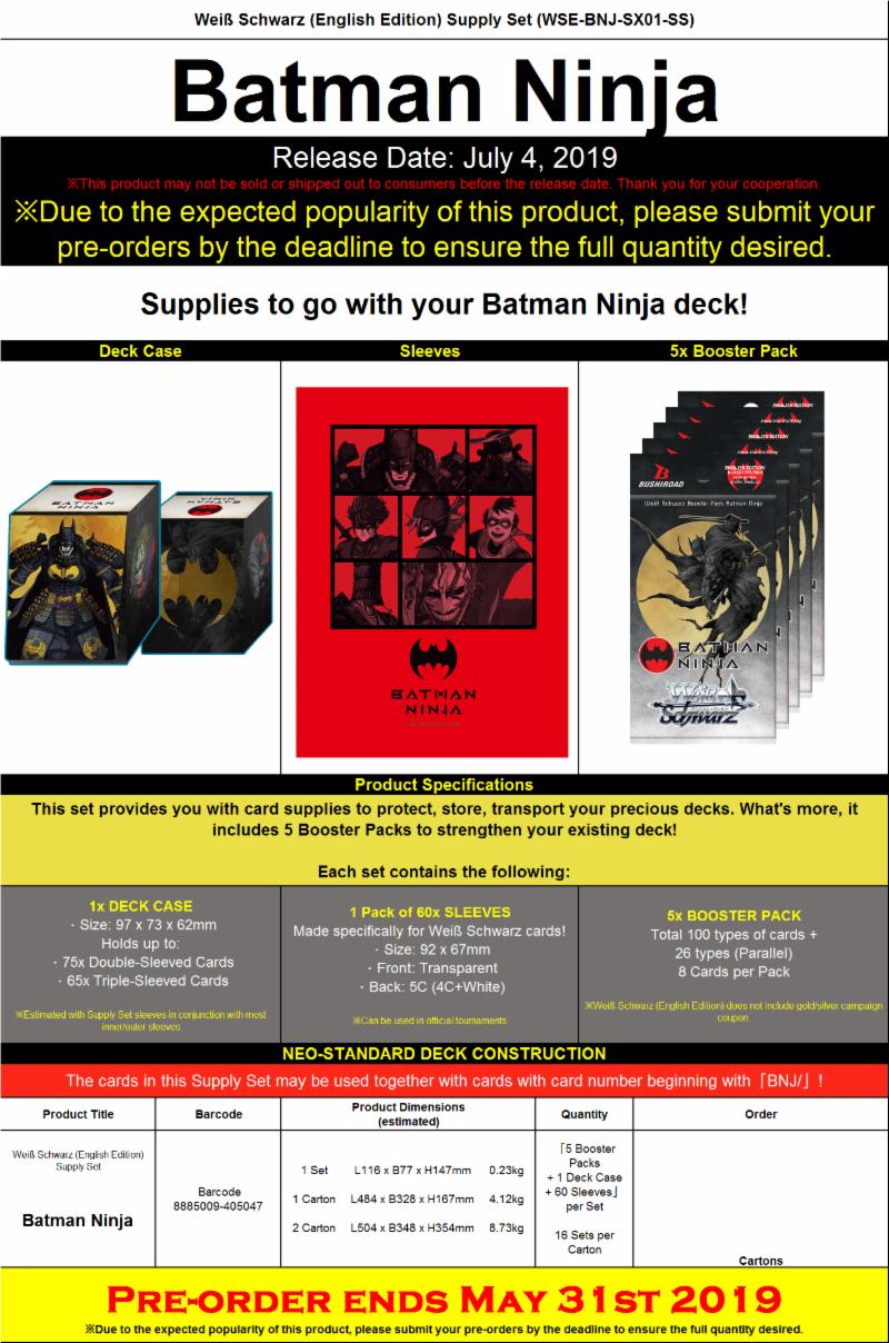 Batman Ninja Meister Set