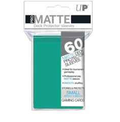 Small PRO-Matte Deck Protector sleeves (60 ct.) Aqua