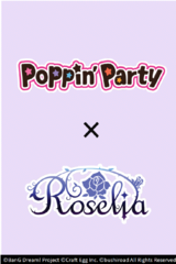 BanG Dream Poppin'Party × Roselia booster Case (30 boxes)