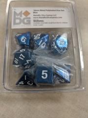 Metallic Dice 16mm Poly Blue 7ct Set