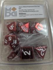 Metallic Dice 16mm Poly Red 7ct Set