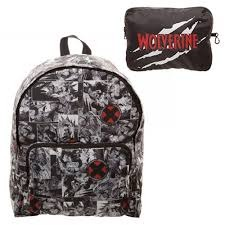 MARVEL - X-MEN - Packable Backpack Black White