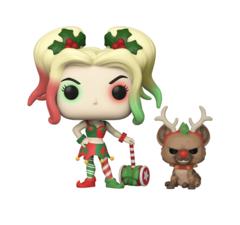 Pop! Heroes: Holiday - Harley Quinn with Helper