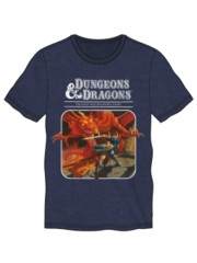 DND NAVY HEATHER TSHIRT CREW NECK DRAGON WARRIORsize L
