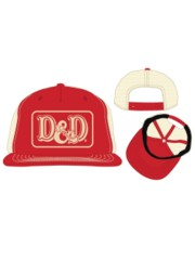 DUNGEONS AND DRAGONS - PATCH RED & TAN SNAPBACK