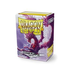 Dragon Shield Box of 100 in Matte Clear Purple