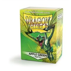 Dragon Shield Box of 100 in Apple Green Matte