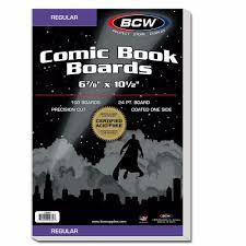 BCW Regular Comic Book Back Boards