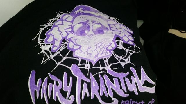 Hairy Tarantula Hoodie: S Black