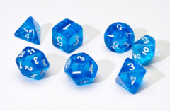 Translucent Blue Resin 7-Die Set