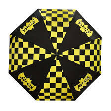 BATMAN - Geo Pattern Icon Panel Umbrella Black/Yellow