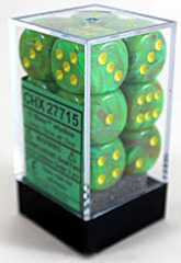 Vortex Slime with Yellow 12ct 16mm D6 Dice Block (CHX27715)