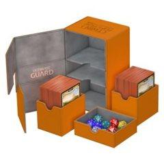Ultimate Guard Twin Flip'N'Tray Deck Case 160+ Standard Size Xenoskin Orange