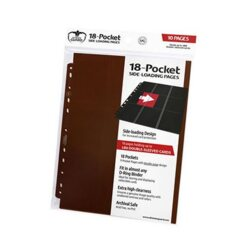 Ultimate Guard - 18-Pocket Side-Loading Pages - Brown