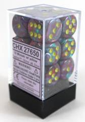 Festive Mosaic with Yellow 12ct 16mm D6 Dice Block (CHX27650)