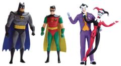 Batman Animated Series Bendable Figure Batman & Robin 2Pk Asst