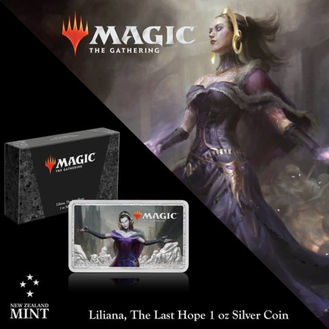 Magic the Gathering - 2019 Liliana 1oz Silver