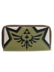 NINTENDO - ZELDA - Gold Zip Wallet Grey Olive