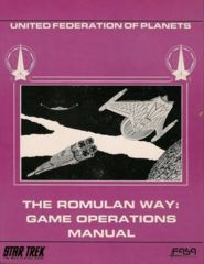 Star Trek: The Romulan Way: Game Operations Manual