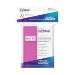 Ultimate Guard - Supreme UX Sleeves Standard Size - Matte - Pink (50)