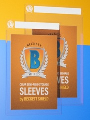 Beckett Shield Large Size Semi-Rigid Card Sleeves 50ct