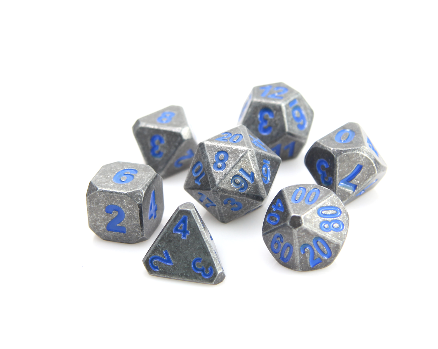 Forge Dice - Raw Steel w/ Paragon Blue