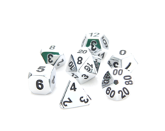 Forge Dice - Shiny Silver w/ Black