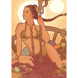 Fantasy Flight Sleeves: Slave Leia 50ct