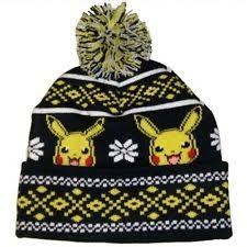 POKEMON - YOUTH - PIKACHU FAIRISLE CUFF HAT POM CUFF BEANIE