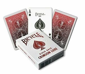 Bicycle Playing Cards: Foil Crimson Red MetalLuxe
