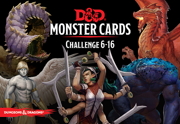Dungeons and Dragons 5th Edition RPG: Monster Cards: Challenge 6-16