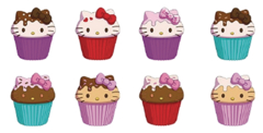 Hello Kitty Cupcake Squishme 24 Pcs Ds