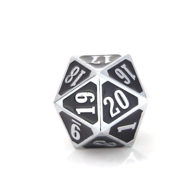 MTG Roll Down Counter - Shiny Silver w/ Black