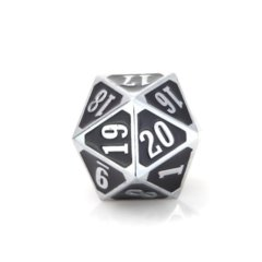 MTG Roll Down Counter - Shiny Silver w/ Black