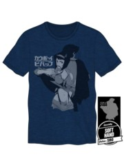COWBOY BEBOP - Faye Men's Navy Heather Tee XL