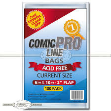 Comic Pro Line Current Bags 6 7/8 x 10 1/2