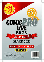 Comic Pro Line Silver Bags 7.25x10.5 in