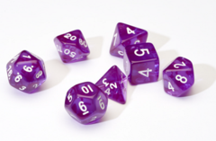 Translucent Purple Resin 7-Die Set