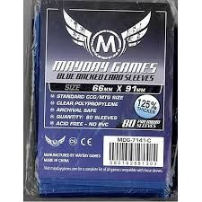Mayday Games: Blue Backed Card Sleeves - 66mm x 91mm - 50ct