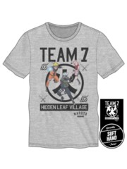 NARUTO - L Team Men's Athletic Grey Tee L