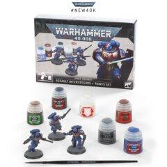 Space Marines Assault Intercessors + Paint Set