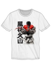 STREET FIGHTER - Ryu Cross Gloves Men's Tee White S