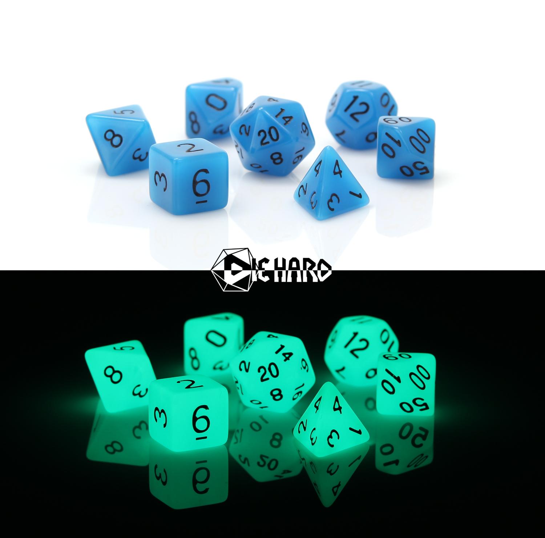 RPG Set - Glow-in-the-Dark Blue