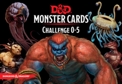 Dungeons and Dragons 5th Edition RPG: Monster Cards: Challenge 0-5
