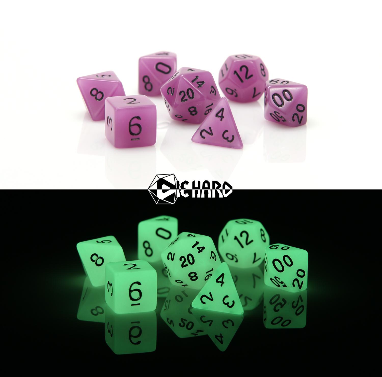 RPG Set - Glow-in-the-Dark Purple