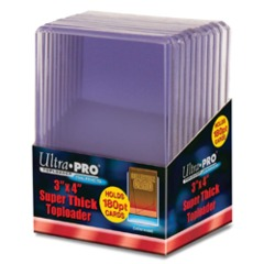 Ultra Pro Toploaders: Super Thick 180pt - 3x4 10 pack (#82328)