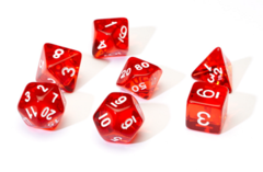 Translucent Red Resin 7-Die Set