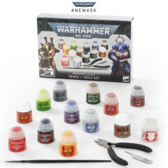Warhammer 40K: Paints + Tools Set