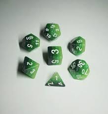 Gradient Green w/Silver 7D set