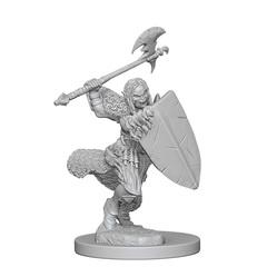 Pathfinder Deep Cuts Unpainted Miniatures: Half-Orc Female Barbarian